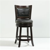 Boraam 24 Bristol Swivel Stool in Cappuccino