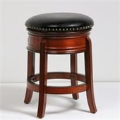 Boraam 24 Hamilton Swivel Stool in Brandy