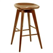 Boraam 24 Bali Swivel Stool in Walnut