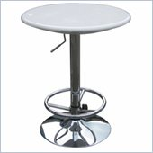 Boraam Luna Adjustable Pub Table in White