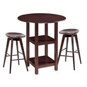 Boraam Powellton 3 Piece Pub Set in Cappuccino