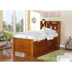 Boraam Twin Captain's Storage Bed in Fruitwood