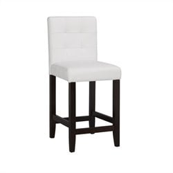 Boraam Lyon Parsons 24 Upholstery Counter Stool (Set of 2) in White