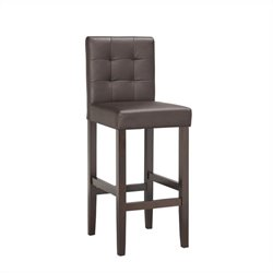 Boraam Lyon Parsons 29 Upholstery Bar Stool (Set of 2) in Brown