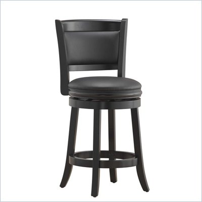 Boraam Augusta 24&quot; Counter Height Swivel Stool in Black