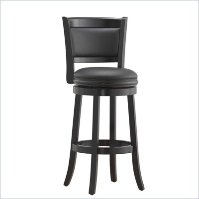 "Boraam Augusta 29"" Bar Height Swivel Stool in Black"