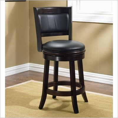 Boraam Augusta 24&quot; Swivel Counter Stool in Cappuccino