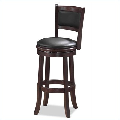 Boraam Augusta 29&quot; Bar Height Swivel Stool in Cappuccino