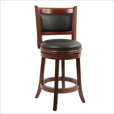 Boraam Augusta 24&quot; Swivel Counter Stool in LT. Dark Cherry