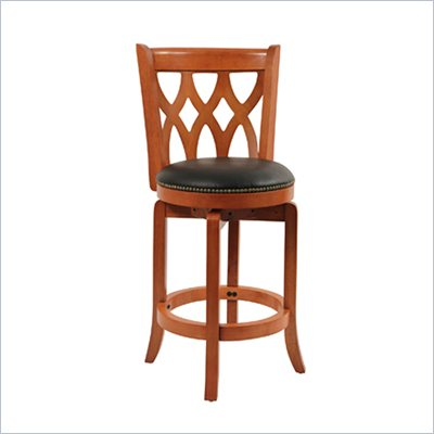 Boraam Cathedral 24&quot; Counter Height Swivel Stool in Es Cherry