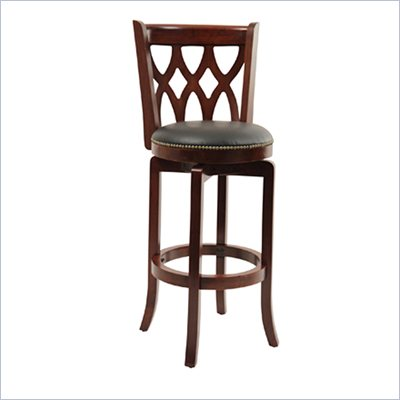 "Boraam Cathedral 29"" Swivel Bar Stool in Dark Cherry"