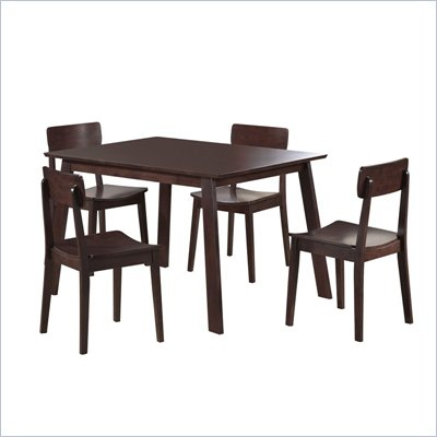 Boraam Torino 5 Piece Dining Set in Cappuccino