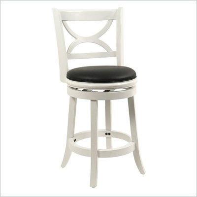 Boraam Florence 24&quot; Swivel Counter Stool in Distressed White