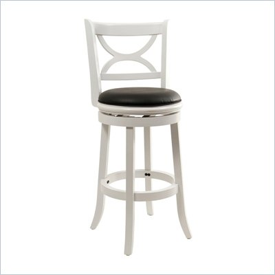 Boraam Florence 29&quot; Swivel Bar Stool in Distressed White