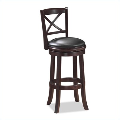 Boraam Georgia 24&quot; Swivel Counter stool in LT. Dark Cherry