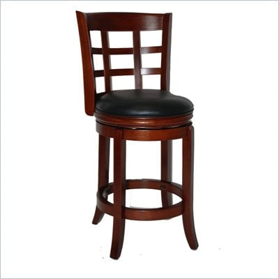 Boraam Kyoto 24&quot; Swivel Counter Stool in LT. Dark Cherry