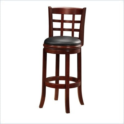 Boraam Kyoto 29&quot; Swivel Bar Stool in LT.  Dark Cherry