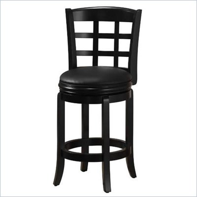 Boraam Kyoto 24&quot; Counter Height Swivel Stool in Black
