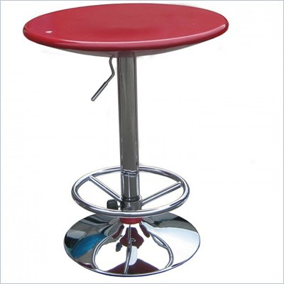 Boraam Luna Adjustable Pub Table in Red