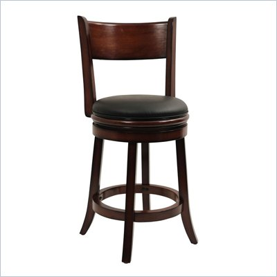 Boraam Palmetto 24&quot; Swivel Counter Stool in Chestnut