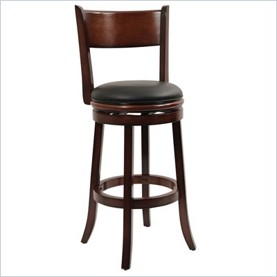 "Boraam Palmetto 29"" Swivel Bar Stool in Chestnut"
