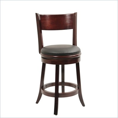 Boraam Palmetto 24&quot; Swivel Counter Stool in English Tudor
