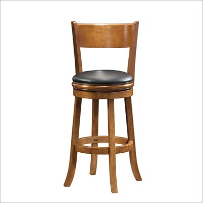 "Boraam Palmetto 29"" Bar Height Swivel Stool in Fruitwood"