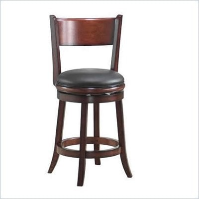 Boraam Palmetto 24&quot; Counter Height Swivel Stool in Brandy