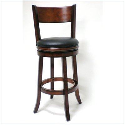 Boraam Palmetto 29&quot; Bar Height Swivel Stool in Brandy