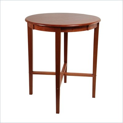 Boraam 42&quot; Round Wood Top Pub Table in ES Light Cherry