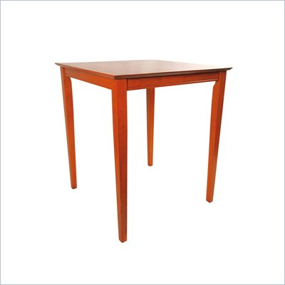 Boraam 42&quot; Square Wood Top Pub Table in ES Light Cherry