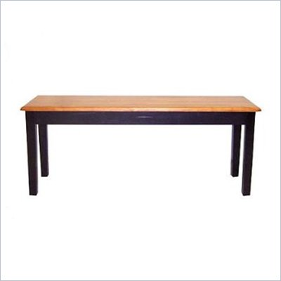 Boraam Shaker Wood Dining Bench in Black and Oak