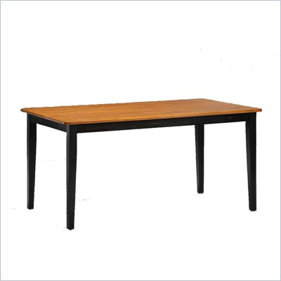 Boraam Shaker 36&quot; x 60&quot; Wood Dining Table in Black and Oak