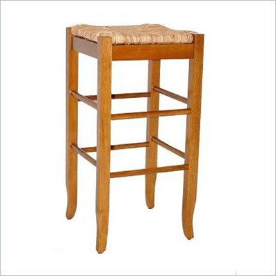 Boraam Square Rush 29&quot; Stationary Bar Stool in Oak