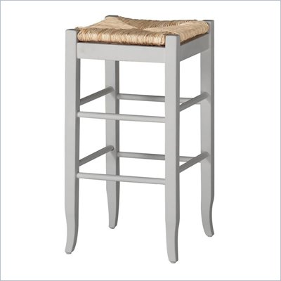Boraam Square Rush 29&quot; Stationary Bar Stool in White