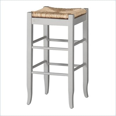"Boraam Square Rush 29"" Stationary Bar Stool in White"