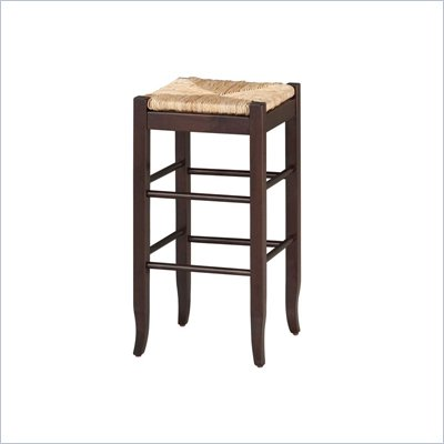 "Boraam Sq Rush 29"" Stationary Bar Stool in Cappuccino"