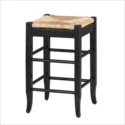 Boraam Sq Rush 24&quot; Stationary Counter Stool in Black