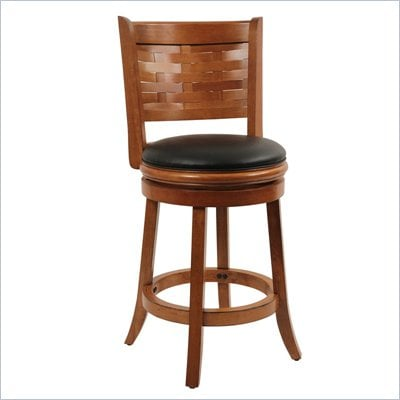 Boraam Sumatra 24&quot; Swivel Counter Stool in Brush Oak