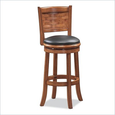 "Boraam Sumatra 29"" Swivel Bar Stool in Brush Oak"
