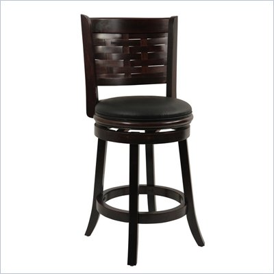 "Boraam Sumatra 24"" Swivel Counter Stool in Cappuccino"