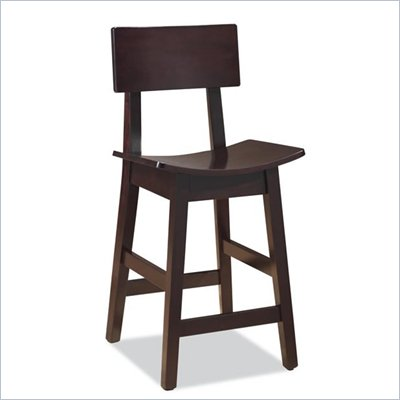 "Boraam Torino 24"" Stationary Counter Stool in Cappuccino"