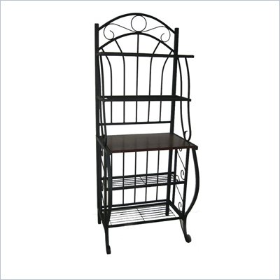 Boraam Valencia 4 Shelf Baker's Rack in Black