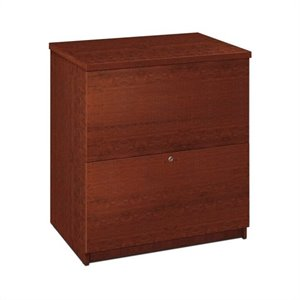 Bestar 2 Drawer Lateral File Wood Storage Cabinet in Tuscany Brown
