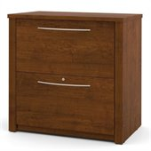 Bestar Embassy 2 Drawer Lateral Wood File Storage Cabinet in Tuscany Brown