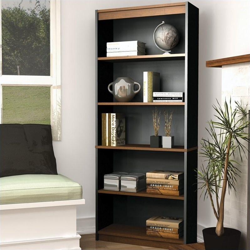 Innova 5 Shelf Bookcase in Tuscany Brown
