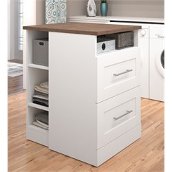 Bestar Pur Storage Island in White