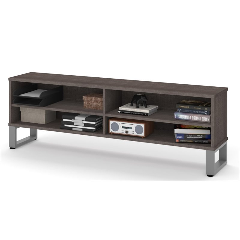 Bestar Solay 59 TV Stand in Bark Gray