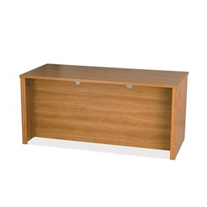 Bestar Embassy Home Office Wood Credenza Desk in Cappuccino Cherry