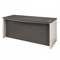 Bestar Connexion Executive Desk in Slate and Sandstone